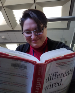 Heather with book