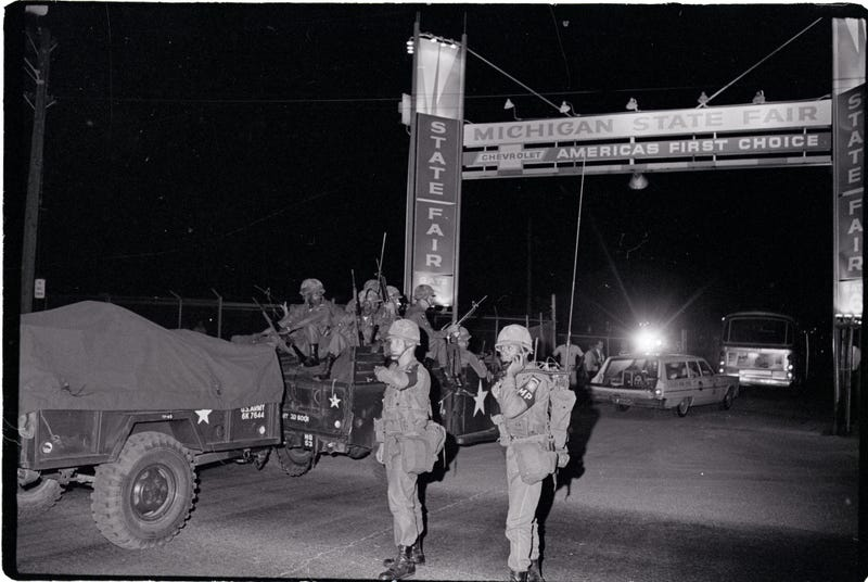 Army troops during detroit riots