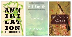3 books with green covers
