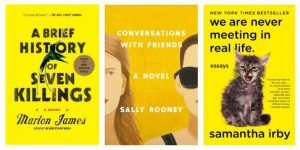 3 books with yellow covers