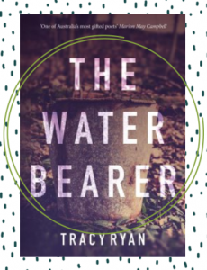 The cover of the poetry collection, The Water Bearer, featuring an image of a bucket.